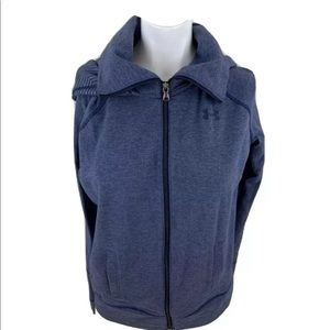 Under Armour Womens Cold Gear Full Zip Hoodie Blue